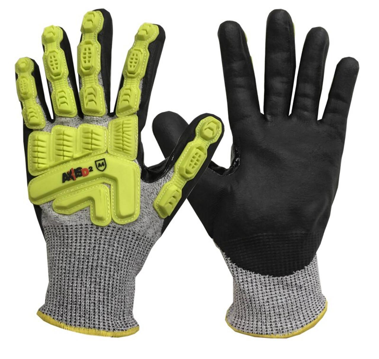 Radians ANSI A4 - Dyneema Micro Nitrile Palm Coated Cut / Impact Gloves