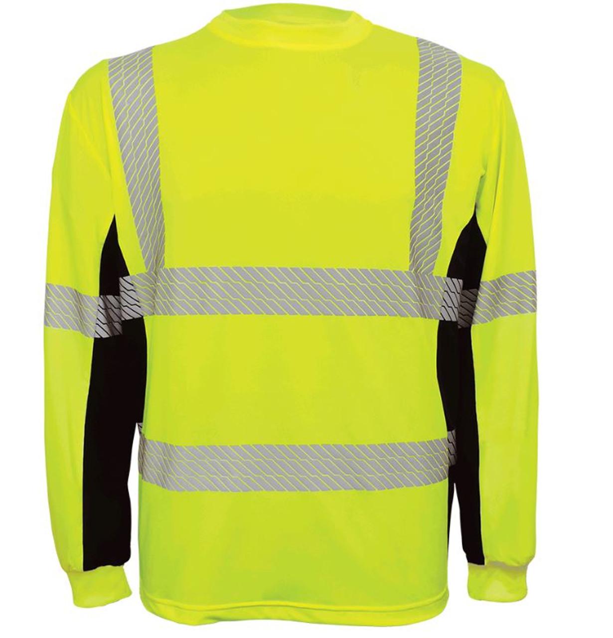 Global Glove GLO-225LS - FrogWear HV - High-Visibility High Performance Stretch Shirt
