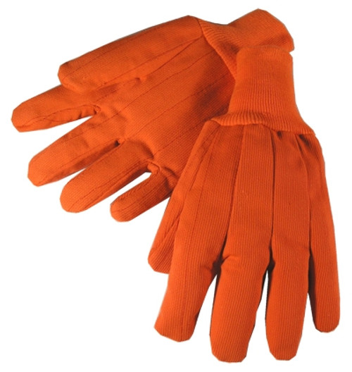 20oz Hi-Vis Knit Wrist Poly Corded Gloves Orange