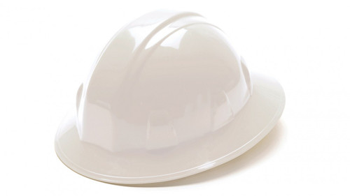 Pyramex® Full Brim Hard Hats - White