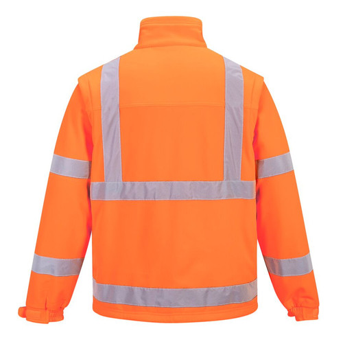 Hi-Vis Softshell Jacket - Safety Orange Back