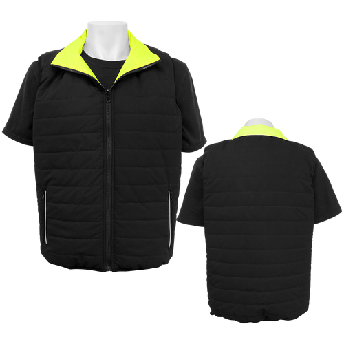 FrogWear HV - High-Visibility Reversible Insulated Safety Vest   ## GLO-V1 ##