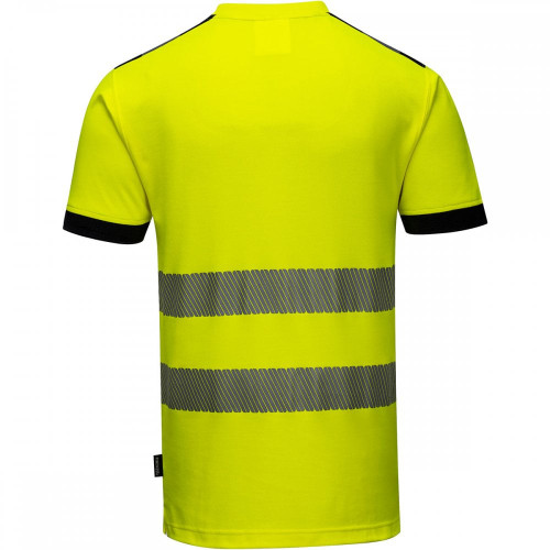 Portwest T181 PW3 Hi-Vis Short Sleeve Work T-Shirt - Hi-Vis/Navy - BACK