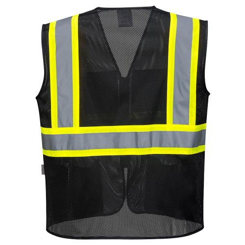 Portwest® US391 Iona Plus Mesh Vest - Black (BACK)