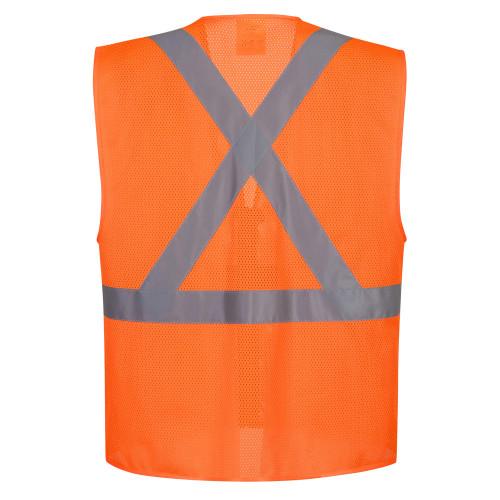 Portwest US370 Atlanta X Back Hi-Vis Safety Vest - Orange