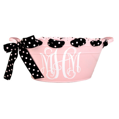 Scalloped Oval Tub - Pink