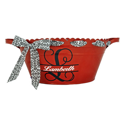 Scalloped Oval Tub - Red