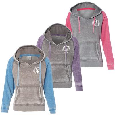Monogrammed Zen Fleece Hooded Sweatshirt