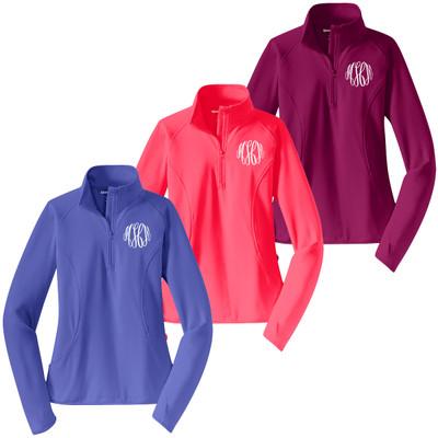 Ladies Monogrammed Sport Pullover