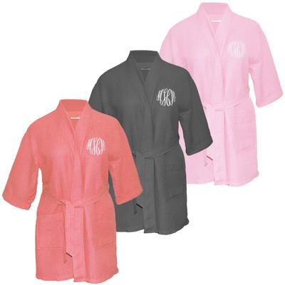 Ladies Monogrammed Waffle Weave Robe