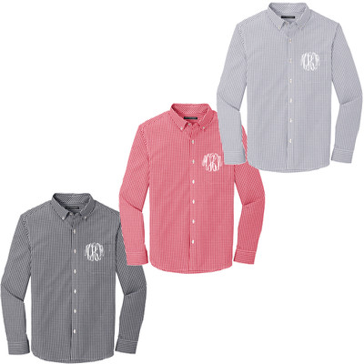 Monogrammed Long Sleeve Gingham Shirt