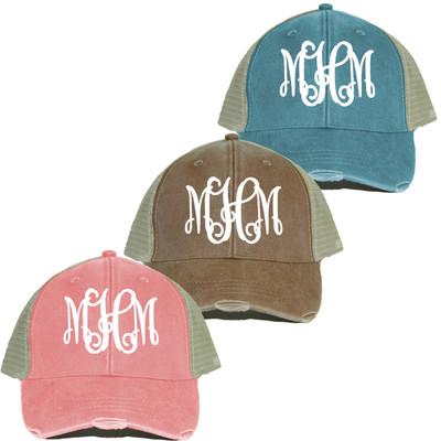 Monogrammed Trucker Cap For Ladies