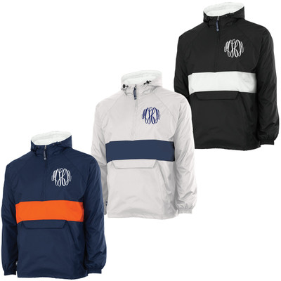 Monogrammed Charles River Classic Striped Pullover