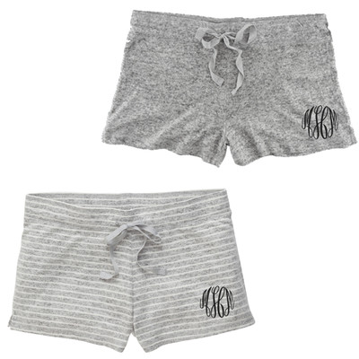 Monogrammed Cuddle Shorts
