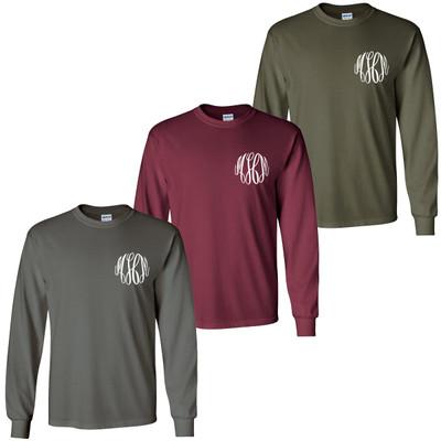 Monogrammed Long Sleeve Tee Shirt