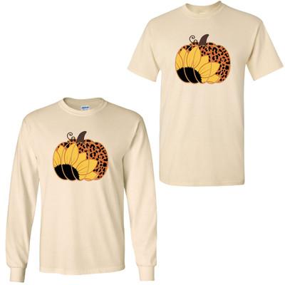 Leopard Pumpkin With Sunflower Shirt