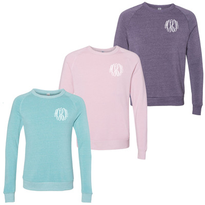 Monogrammed Ladies Eco-Fleece Sweatshirt