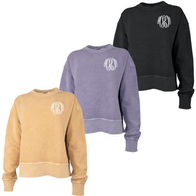 Monogrammed Camden Crop Crew Neck Sweatshirt