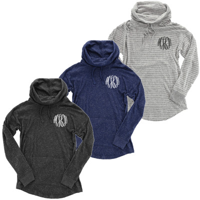 Monogrammed Cowl Cuddle Pullover