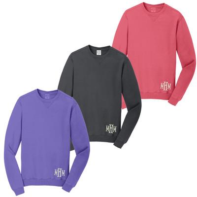 Monogrammed Pigment Dyed Sweatshirt