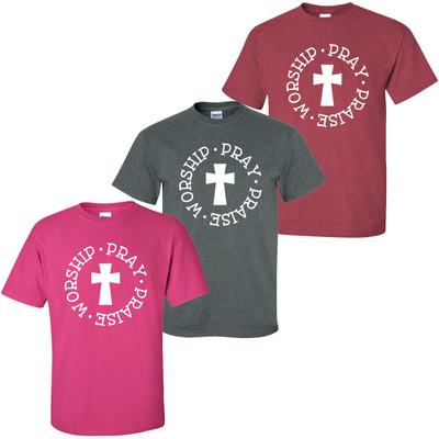 Pray Praise Worship T-Shirt