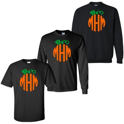 Distressed Pumpkin Monogram T-Shirt
