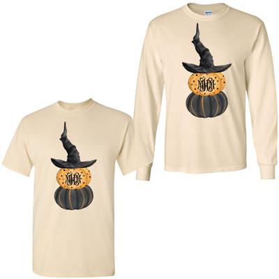 Monogrammed Halloween Pumpkins Shirt