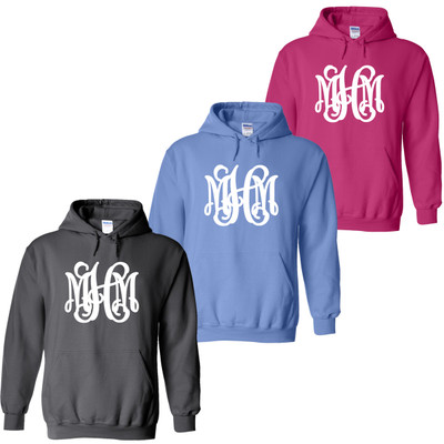 Full Monogrammed Hooded Sweatshirt
