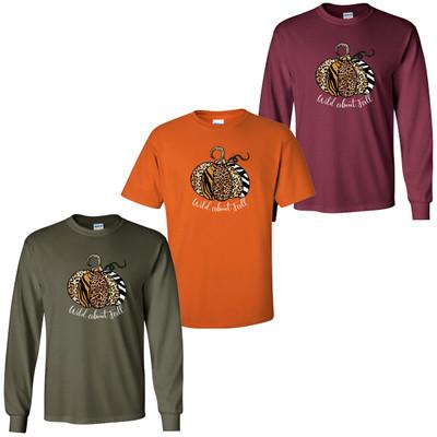Wild About Fall Animal Print Pumpkin T-Shirt