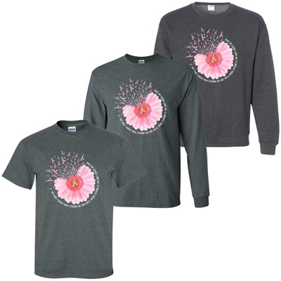 Breast Cancer Flower Graphic T-Shirt