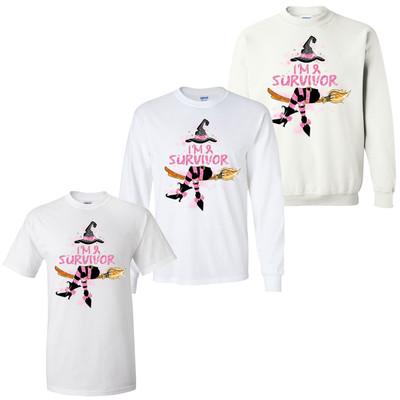 Im A Survivor Breast Cancer Halloween Graphic T-Shirt