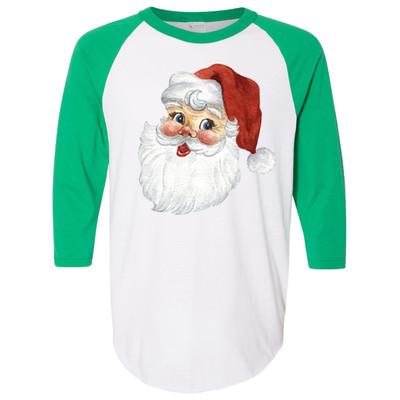 Santa Graphic Raglan - Kelly