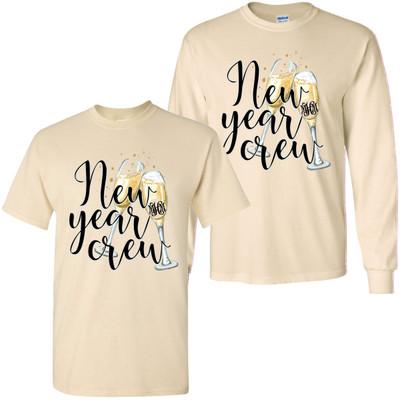 Monogrammed New Year Crew Shirt