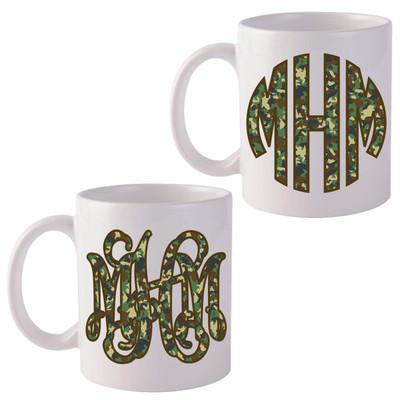 Monogrammed Camo Coffee Mug
