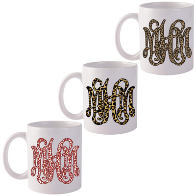 Monogrammed Leopard Coffee Mug