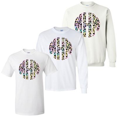 Monogrammed Tie Dye Leopard Graphic Shirt