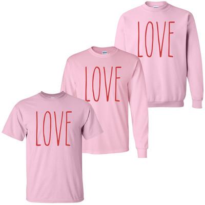 Love T-Shirt - Light Pink