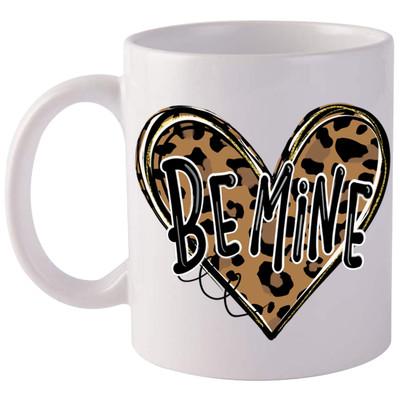 Be Mine Leopard Heart Coffee Mug
