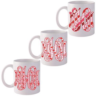 Monogrammed Valentine Coffee Mug