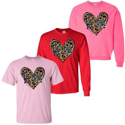 Be Mine Leopard Heart T-Shirt