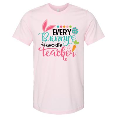 Every Bunnys Favorite Teacher Bella Canvas Tee - Soft Pink