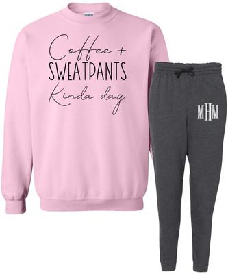 Coffee And Sweatpants Kinda Day Lounge Set