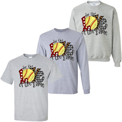 For The Love Of The Game Softball T-Shirt - Sport Grey
