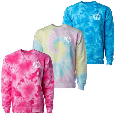 Monogrammed Tie Dye Sweatshirt