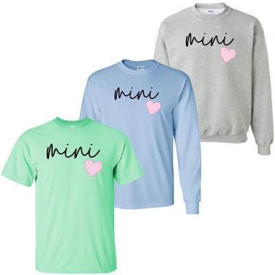 Pink Leopard Heart Mini Shirt