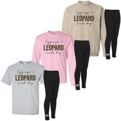 Leggings And Leopard Kinda Day Shirt And Leggings Bundle