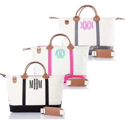 Monogrammed Weekender Travel Bag