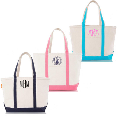 Monogrammed Canvas Large Boat Tote Boat Tote
