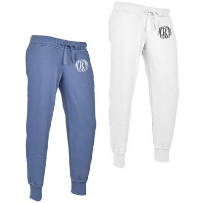 Monogrammed Charles River Distressed Jogger Pants
