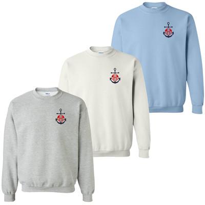 Monogrammed Embroidered Navy Anchor Sweatshirt